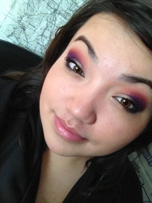 """Sugarpill """"Poisen Plum"""" """"Flampoint"""" """"Love+"""" with Urban Decay Naked2 """"Bootycall""""  #makeup"""