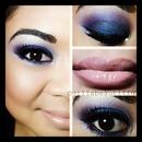 Purple Fade To Blue Eye Look