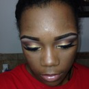 Neutral makeup with lots of Gold