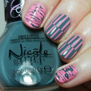 More info and tutorial:  http://www.letthemhavepolish.com/2014/02/nicole-by-opi-carnival-cotton-candy.html