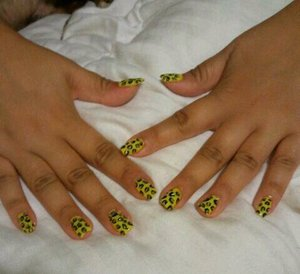 Yellow and Gold Leopard