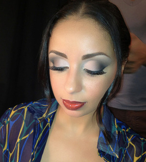 Grammy Award Winning Recording Artist MYA in my makeup for Mercedes Benz Fashion Week Sept 2012
