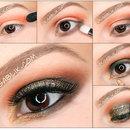 Glitter Smoky Eye Makeup