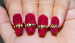 For detail Tutorial visit http://lovefornailpolish.com/how-to-use-flocking-powder-nail-art-velvet-flocking-powder