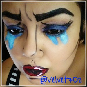 My very first pop art crying girl :D