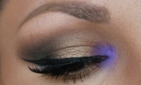 Makeup Tutorial: Gold Smokey Eye with a POP of Purple