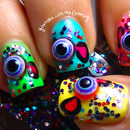 Cute 3D Eyeball Candy Nails! ~ Sweet Halloween Design