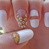 White & Golden Nails