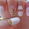 White & Golden Nails
