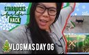 🎄 VLOGMAS DAY 06: STARBUCKS FOR LIFE HACK! SWEEPING UP PUPPIES, PARK LIGHTS | MakeupANNimal