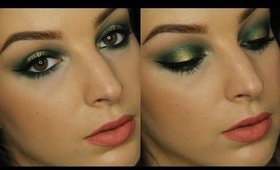 Emerald and Gold Holiday Makeup Tutorial ♥