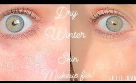 HOW TO APPLY FOUNDATION MAKEUP ON DRY WINTER SKIN | LILLEE JEAN
