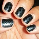 Black on Gunmetal Checkers