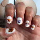 Puppy nail art decals