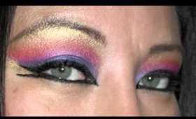 Arabic Sunset Eye Makeup