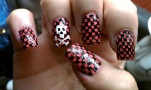 checkerboard skulls