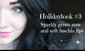 Reupload: Holidaylook#3 Sparkly green eyes with soft fuschia lips