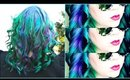 SMOKY MERMAID HAIRCOLOR | Hair Dye Vlog