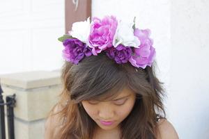 Purple & Pink Floral Crown