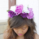 Purple & Pink Floral Crown