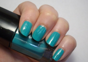 ELF nail polish in Teal Blue.  Two coats.