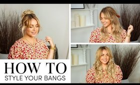 Three different ways to style your bangs | Milk + Blush
