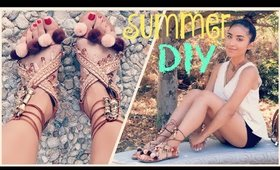 DIY: Pom Pom/Embellished Sandals | Dulce Candy