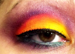 NEONBRIGHT XSPARKAGE INSPIRED LOOK (: I MIXED UP THE COLORS A LITTLE BIT.