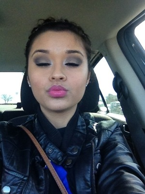 No filter , I loved my make up today  NYX matte cream on the lips