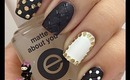 Quilted Glitter Placement Nails by The Crafty Ninja