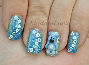 baby bear nail art