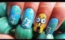 Spongebob Squarepants nail design tutorial.
