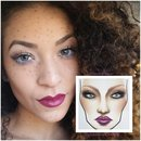 Random face chart.  @pinkcolours_makeup