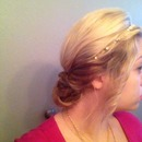 Easy chic hairdo can even be for a formal
