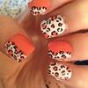 Orange and white cheetah print