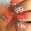 Orange and white cheetah print