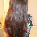 Silky curly hair