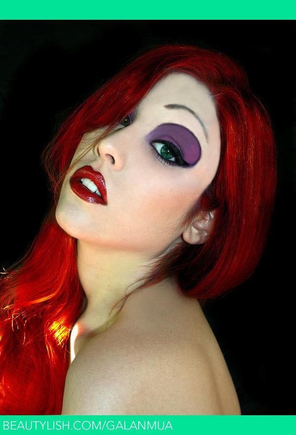 Jessica Rabbit inspired Make-Up | Julia G.'s (GalanMUA ...