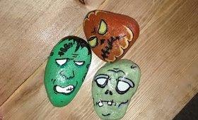 Halloween Crafts 2017: Halloween Character Rock Painting PT.1