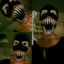 Spiderman Venom Makeup Look