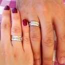 wedding ring & red nail polish