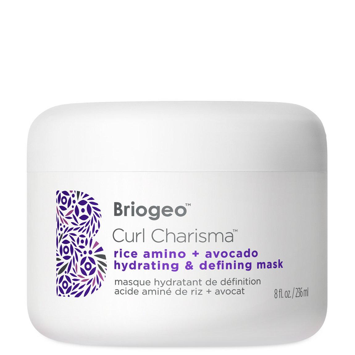 Briogeo Curl Charisma Rice Amino + Avocado Hydrating & Defining Hair Mask 8 fl oz alternative view 1 - product swatch.