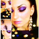 Purple eye shadow/ Glam look