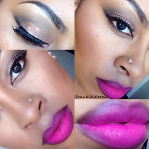 Check out the tutorial for this look on my channel www.youtube.com/beautysosweet08 . Please be sure to thumbs up and subscribe!   Follow me on Instagram @muashaleena