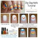 Chevron nails step by step 😍😍