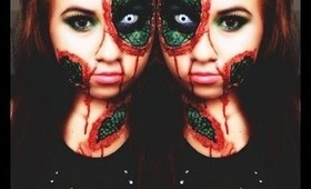 Reptile Skin- Halloween Makeup 2013