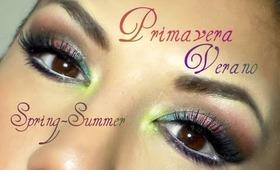 Fiesta en Primavera- Verano / Summer-Spring party makeup