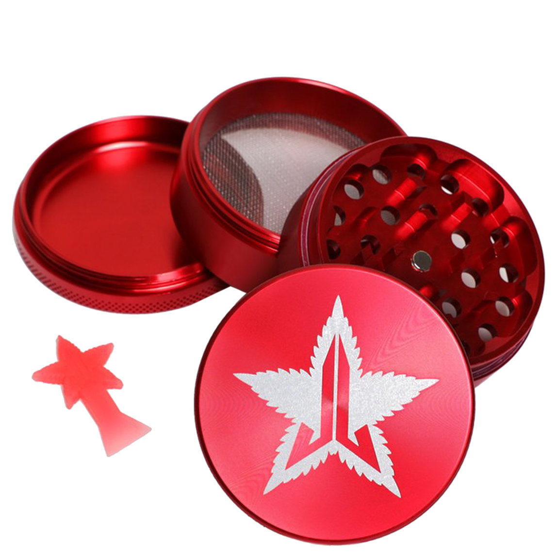 Jeffree Star Cosmetics 63mm Grinder Red alternative view 1 - product swatch.