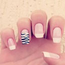 French Tip and Zebra!