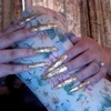 Gold Leaf Super Long Nails